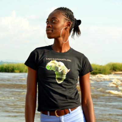 Dámské tričko - Africa - černé